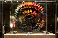 Tod's store. Tod's  is the operating holding of a Group, amongst the leading players which produce and sell shoes and luxury leather goods, with the brand names Stock Photo