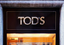 Tod Sign on street shop window Rome stock photography