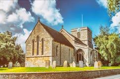Toda a igreja de Saint em Ruskington Lincolnshire imagem de stock