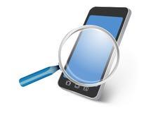 Toda la búsqueda del dispositivo del smartphone Fotos de archivo