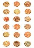 Toda la clase de pizza Imagenes de archivo