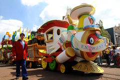 Toda la estrella expresa en Disneylandya Imágenes de archivo libres de regalías