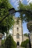Toda la iglesia de los santos, Nunney Inglaterra. fotos de archivo