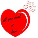 Toda la necesidad es amor Stock de ilustración