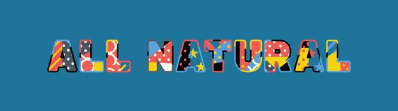 Toda la palabra natural Art Illustration del concepto stock de ilustración