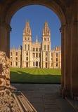Toda la universidad Oxford de las almas Fotografía de archivo libre de regalías