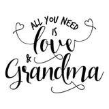 Toda lo que usted necesita es amor y abuela libre illustration