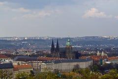 Toda a vista de Praga Foto de Stock Royalty Free