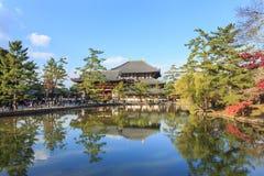 Todai籍的了不起的菩萨霍尔在奈良 免版税库存照片