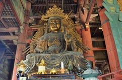 Todai-ji в Nara, Японии Стоковое Изображение