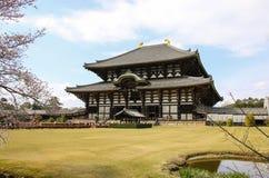 Μεγάλη αίθουσα του Βούδα του ναού Todai-todai-ji στο Νάρα, Ιαπωνία στοκ εικόνες με δικαίωμα ελεύθερης χρήσης