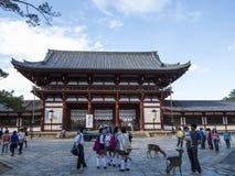 Todai ji寺庙在奈良 免版税库存照片