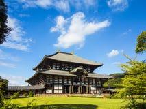 Todai ji寺庙主要大厅在奈良 库存图片