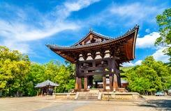 Todai-ji Bell w Nara, Japonia fotografia stock