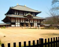 Todai-ji (le temple grand oriental) Images stock