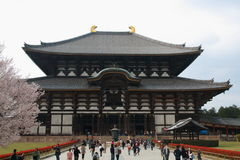 Todai-ji. Tōdai-ji, is a Buddhist temple complex located in the city of Nara, Japan. Its Great Buddha Hall, houses the worlds largest bronze statue of the Stock Image