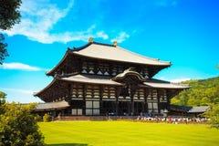 Todai ji tempel en park in de stad van Nara japan stock foto's