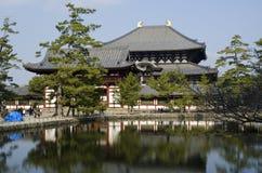Todai-ji tempel i Nara Arkivfoto