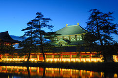 Todai-ji Tempel in Nara, Japan Stockbild
