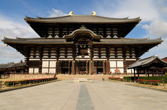 Todai-ji Temple. Todai-ji literally means Eastern Great Temple. This temple is a Buddhist temple located in the city of Nara, Japan. Its Great Buddha Hall houses stock images