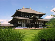 Todai-ji temple in Nara. The Daibutsuden main building at the Todai-ji temple in Nara, Japan Royalty Free Stock Image