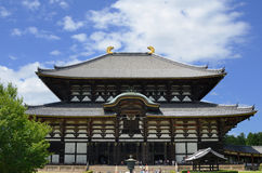 Todai-ji Temple in Nara, Japan. Exterior of Todaiji, the world's largest wooden building and a UNESCO World Heritage Site dating from the 8th Century in Nara Royalty Free Stock Photo