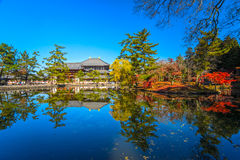 Todai-ji temple in Nara, Japan. Royalty Free Stock Photography