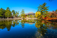 Todai-ji temple in Nara, Japan. Royalty Free Stock Photos