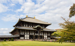 Todai-ji temple in Nara, the largest wooden building in the worl Royalty Free Stock Photos