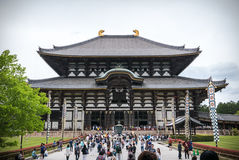Todai-ji Temple of Nara. Todaiji or known as Great Eastern Temple founded in 728, is one of Japan`s most important temples. It is a great landmark of Nara Stock Photo
