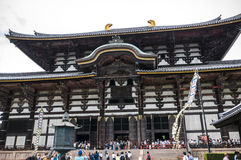 Todai-ji Temple of Nara. Todaiji or known as Great Eastern Temple founded in 728, is one of Japan`s most important temples. It is a great landmark of Nara Stock Images