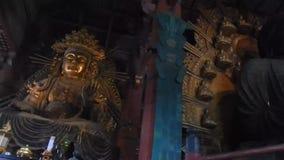Todai Temple, Nara, Japan. Todai Buddhist Temple with the Great Buddha in Nara, Japan stock video