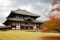 Todaiji寺庙在奈良,日本 库存图片