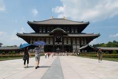 Todaiji寺庙大菩萨主要大厅,奈良,日本 免版税图库摄影