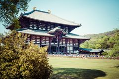 Todaiji Buddhist temple in the ancient Japanese capital Nara Stock Images