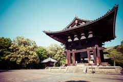 Todaiji Buddhist temple in the ancient Japanese capital Nara Stock Image