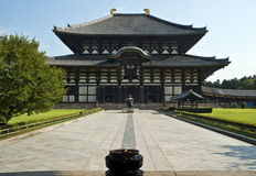 Todaiji Buddhist temple Nara Japan Royalty Free Stock Photo