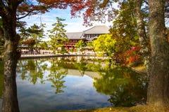 Todaiji Nara, Kyoto Arkivbild