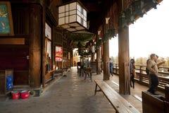Todaiji Nigatsudo relikskrin i Nara, Japan Fotografering för Bildbyråer
