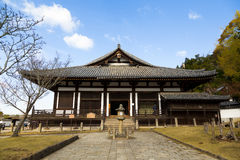 Todaiji Nigatsudo relikskrin i Nara, Japan Royaltyfria Bilder