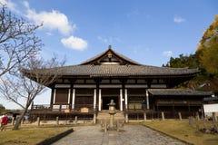 Todaiji Nigatsudo relikskrin i Nara, Japan Arkivbild