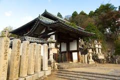 Todaiji Nigatsudo relikskrin i Nara, Japan Arkivfoton