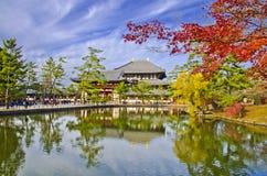 Todaiji tempel i Nara Arkivbilder