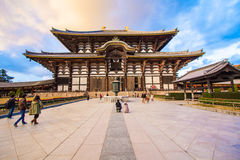 Todaiji tempel i Nara, Japan Royaltyfria Bilder