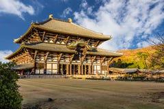 Todaiji tempel i Nara, Japan Arkivbilder