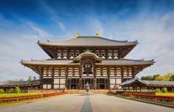 Todaiji tempel i Nara, Japan Royaltyfri Foto