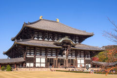 Todaiji temple in Nara city, Japan Royalty Free Stock Images