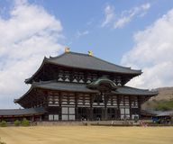 Todaiji temple, Nara, Japan. Todaiji temple (location of Great Buddha) in Nara, Japan. World Heritage Site of UNESCO Royalty Free Stock Image