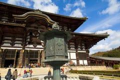 Todaiji temple in Nara,Japan. Royalty Free Stock Photos