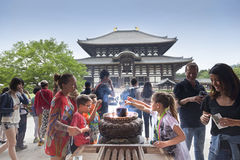 Todaiji Temple in Nara Park. This is the biggest wooden temple in the world Stock Photos